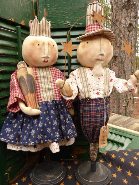 """SOLD; For more pictures, information, or designer information.  Please email.  Sam is approximately 22 1/2""""  Liberty is app. 20 1/2"""" This sale is for both dolls...Keep in mind, they are tall."""