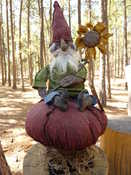 """SOLD.  Gnome approx 16"""" tall.  Please email for further information.  Information regarding designer."""